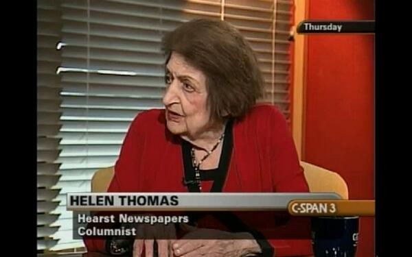 Helen Thomas, longtime White House journalist, had over 100 @cspan appearances http://t.co/eO13c3Y7It RIP http://t.co/A9nUo1DBbH