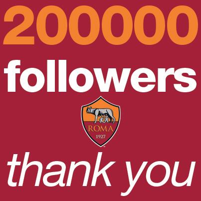 As Roma On Twitter 200000 Followers Sulla Pagina At Officialasroma