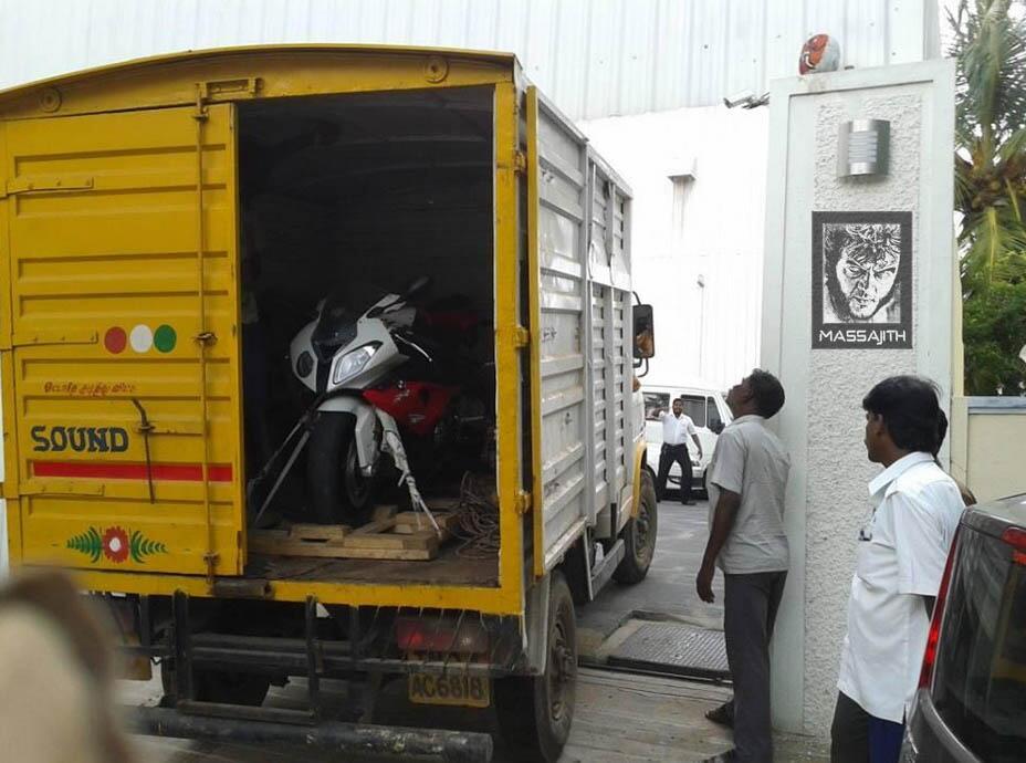 "ajith on twitter: ""#ajith ducati bike in thala home today"
