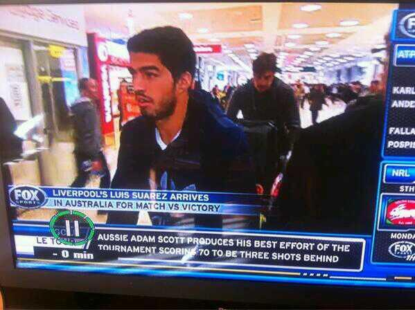 %name In Pictures: Luis Suarez lands in Australia to play in Liverpools pre season