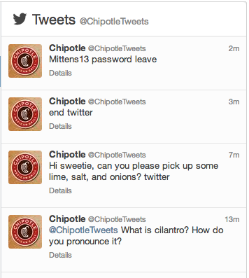 What is going on with @ChipotleTwitter ??pic.twitter.com/9WnWEa4Aga