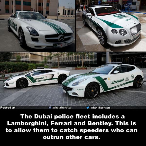 "What The F*** Facts On Twitter: ""Dubai Police Cars..! Http"