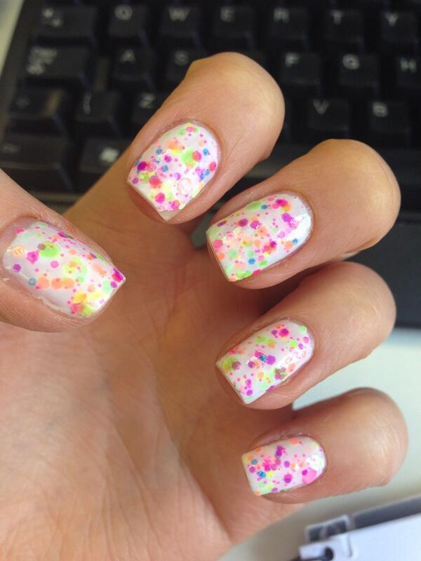 NailsByNumbers: White and Neon Glitter Nails! Lush Lacquer\'s \'Neon ...