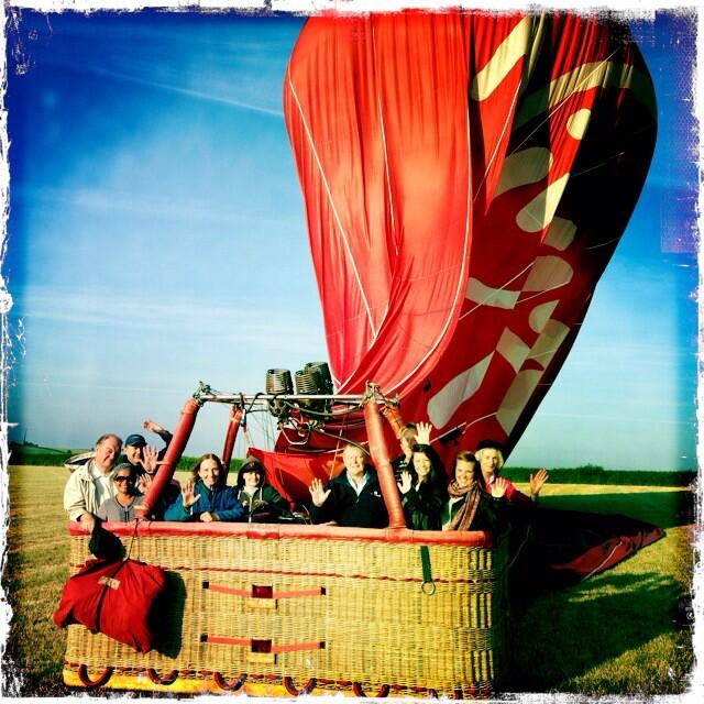 Richard's actual hot air balloon after landing - copyright Richard Prowse