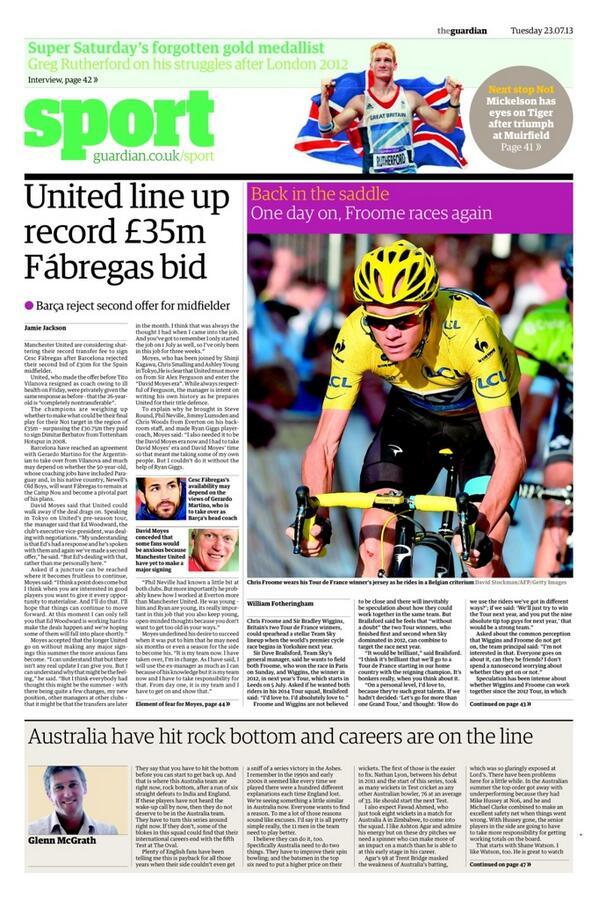 Manchester United line up final £35m Cesc Fabregas offer [Guardian]