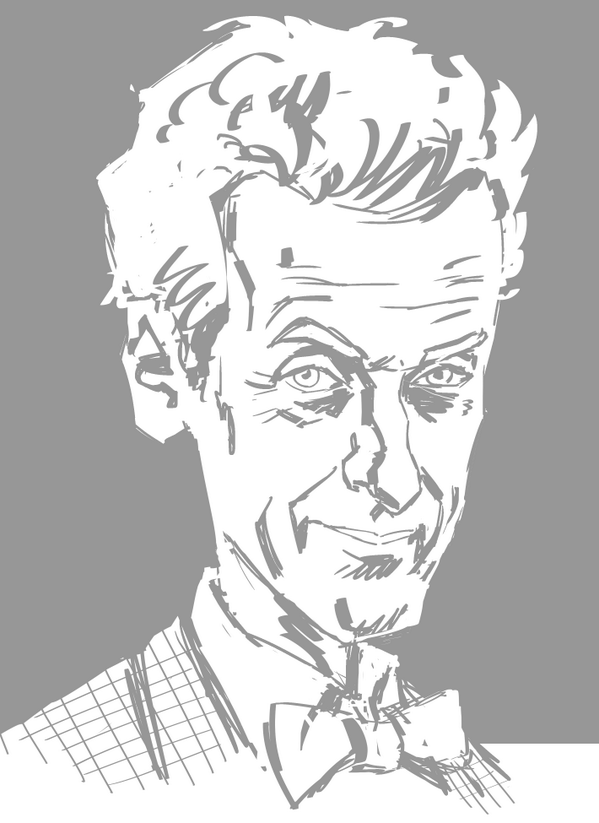 Quick sketch of 12th Doctor: #Capaldi http://t.co/7AgOTiVybo