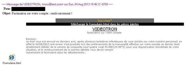 Videotron courriel