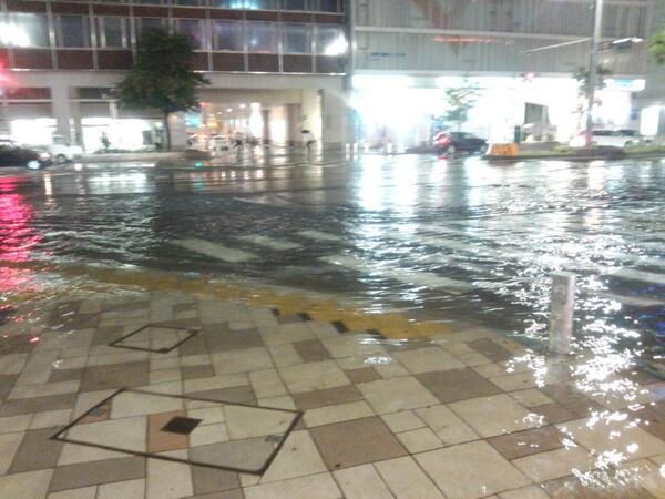 名古屋駅の前が水浸し件(´・ω:;.:...