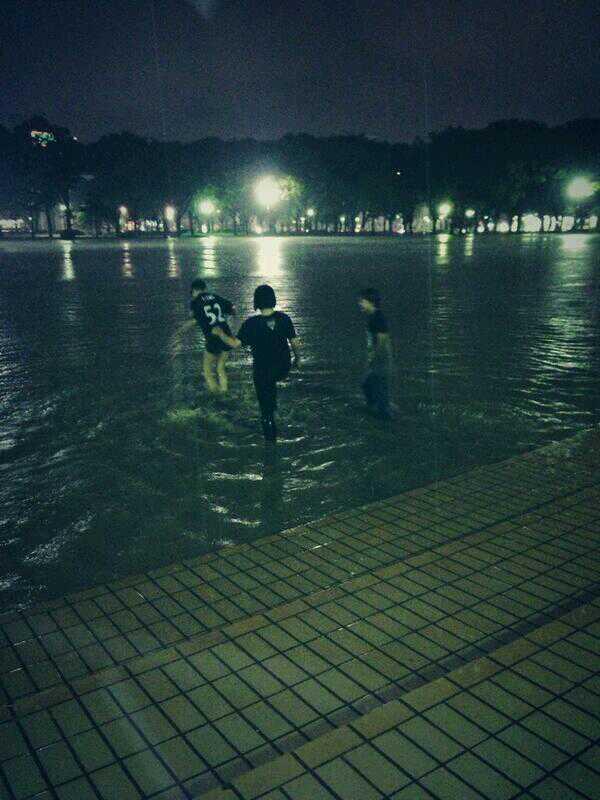 現在の名古屋の白川公園はこのような様子です。