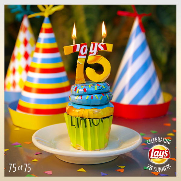 Thank you to everyone who's celebrated 75 years of awesome summer moments with us! Here's to many more! #Lays75 http://t.co/4dLsCVNbAz
