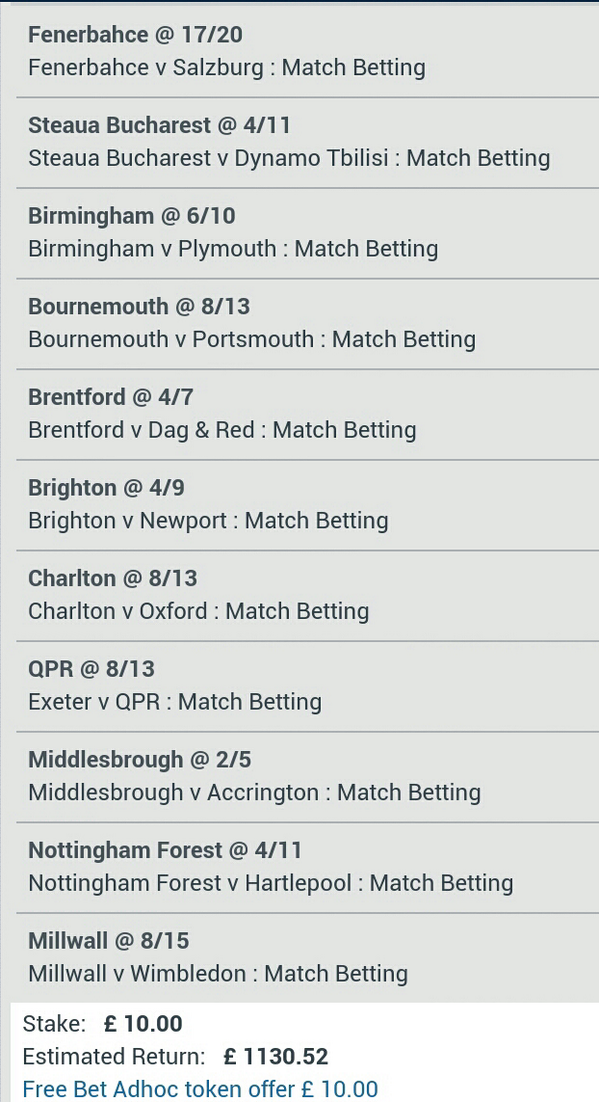 10 pound free betting
