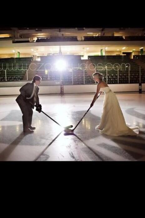 Tylerseguinproblems On Twitter Torey Krug And His Beautiful Wife Melanie On Their Wedding Day They Mixed In A Little Hockey On Their Wedding Day Http T Co X5nyotkv52