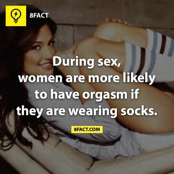 Socks still on during sex