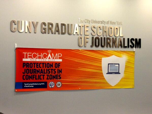 "Starting at @USUN's #TechCamp on ""Protection of Journalists in Conflict Zones."" Follow #TechCamp pic.twitter.com/QKLb2E27vl"