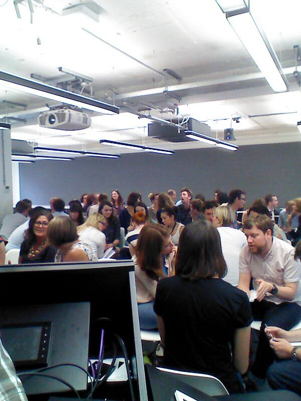 Attendees talking metrics