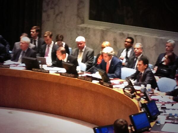 HAPPENING NOW: #SecKerry speaking at #UNSC Ministerial on the Great Lakes region. #UNSCPrez pic.twitter.com/uhBOtuzGgY