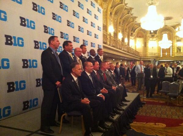 The 2013 coaches at #B1GMediaDay pic.twitter.com/zlmqmIK38A