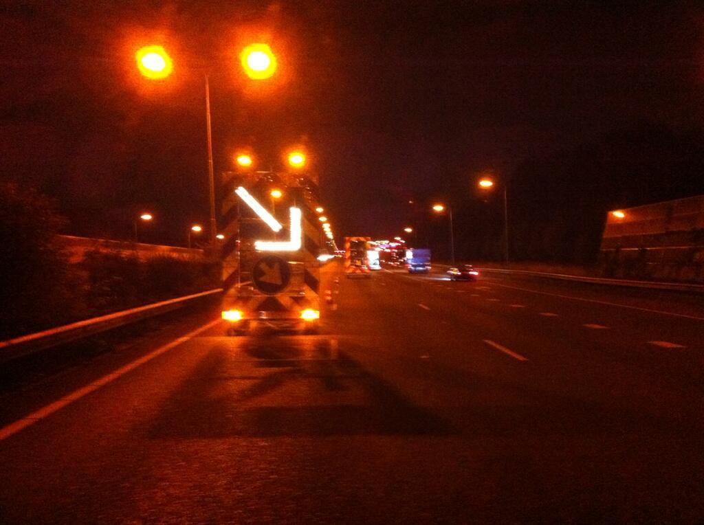 Twee ongelukken op de A13 vrijdagnacht