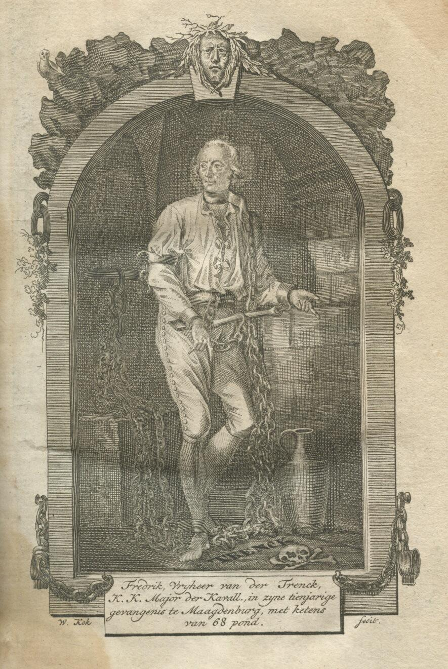 von der Trenck by Dutch engraver Willem Kok (Dutch translation, 1788)