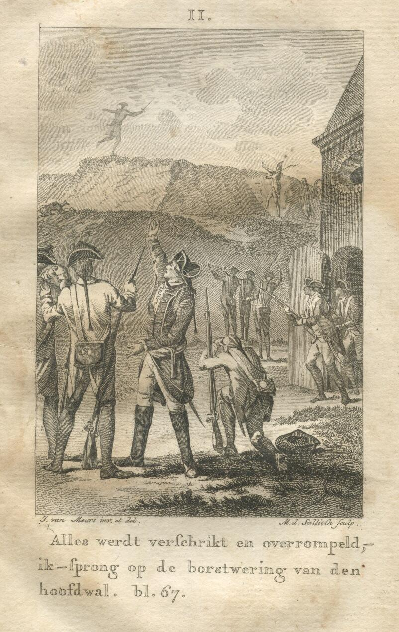 The daring escape by M.de Sallieth after J.van Meurs (1788)
