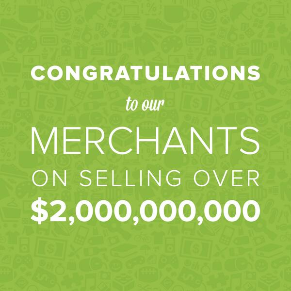 Shopify Merchants selling over $2,000,000,000.