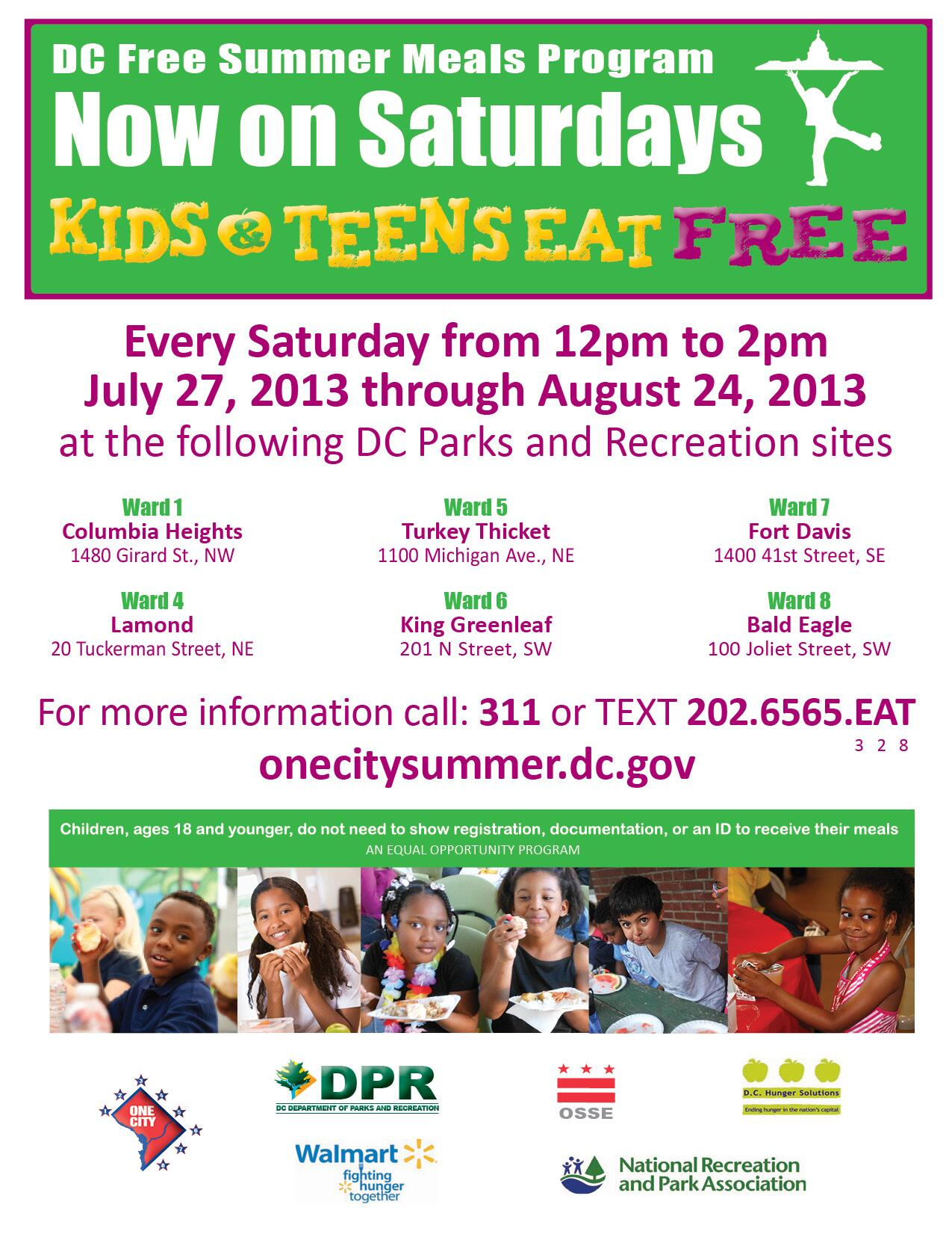 Twitter / DCDPR: #DCFreeSummerMeals program ...