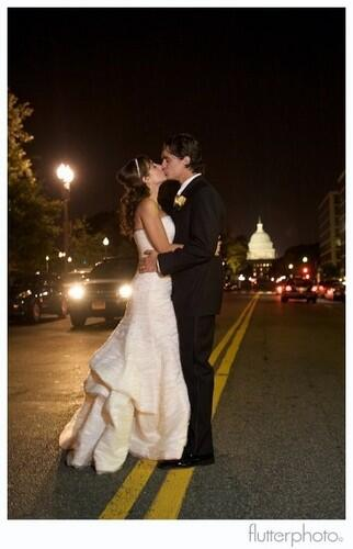 "DC wedding with native Washingtonian Emanuela ""Emme"" Porter, Bruce Porter Jr photo with US Capitol in background"