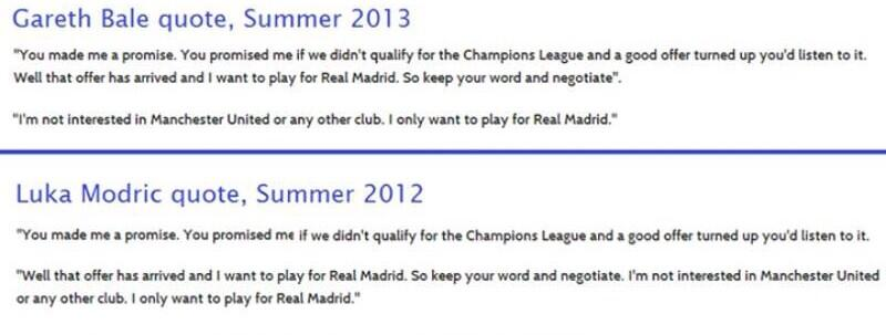 Marca caught making shit up! Spurs fans show paper rehashed a Modric quote, applied to Bale