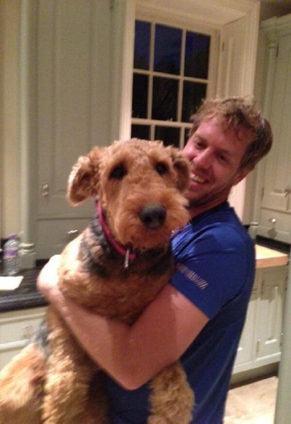 Photo of Sebastian Vettel & his  Dog