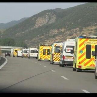 En route to Dover aid to Syria convoy  May Allah guide and protect them Ameen http://t.co/HbHgSc4N6B