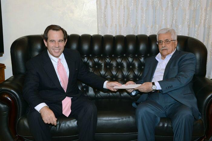 American diplomat delivers invitation to Palestinian President Mahmoud Abbas