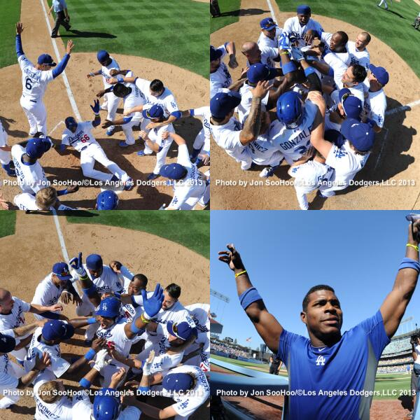 Amazing pictures! :D #Puig RT @Dodgers: There is only one @JonSooHoo, here was his view: atmlb.com/18LUlVj pic.twitter.com/myj1x3JyHF