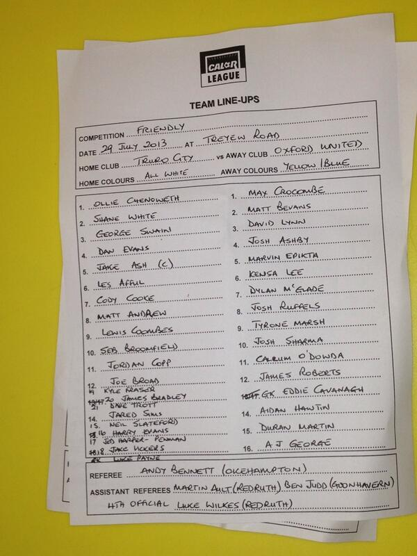 An upright @TCFC_Official v @OUFClive team sheet #cornishfootball pic.twitter.com/14cWMdRALT