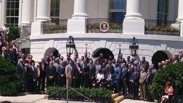 Can't believe I got to meet the Giants and the POTUS #Blessed @SFGiants pic.twitter.com/1ouHk5W9yQ