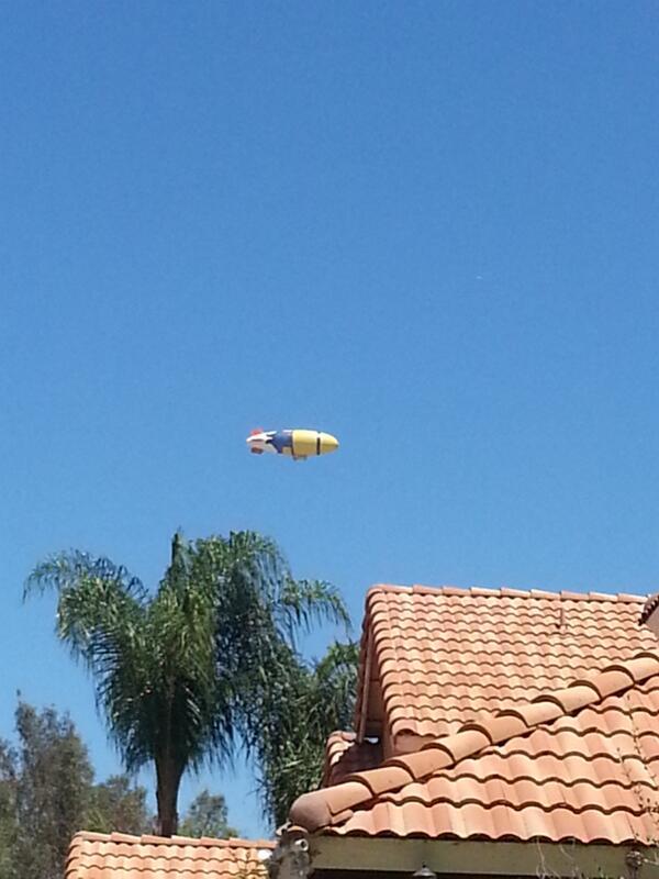 Thumbnail for Despicablimp flies over California