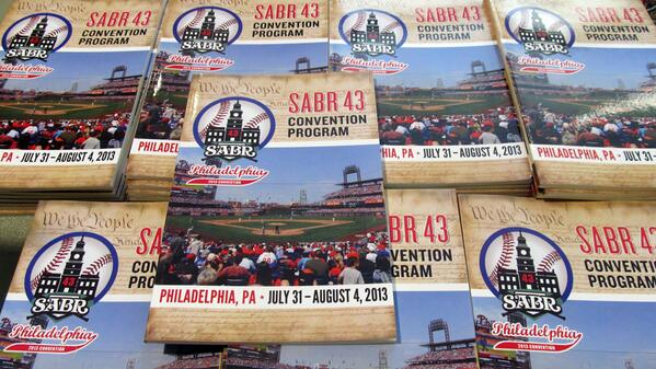 Getting ready for #SABR43! Goody bags are being packed, programs are in. All we're waiting for is YOU! pic.twitter.com/Y2B6hj07Sm