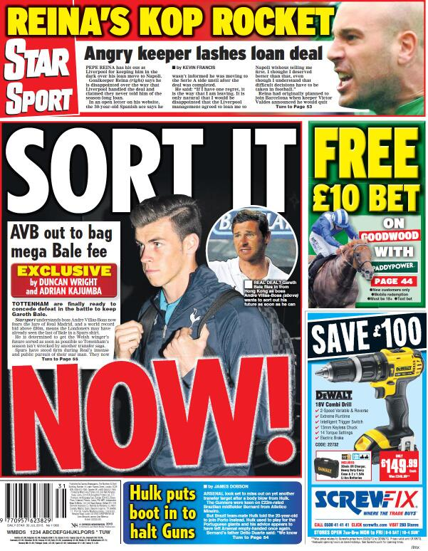 The Gareth Bale Tuesday back pages: Crunch Talks & Levy will take £85m + a player