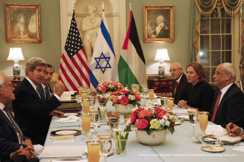 Secretary Kerry Iftar dinner for Israeli + Palestinian Negotiators