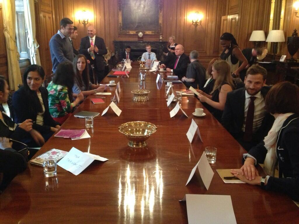 Enterprise Nation members in the Downing Street state dining room.