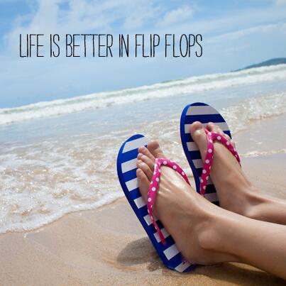 Life Is Better In Flip Flops Linen Banner The Flag Shop