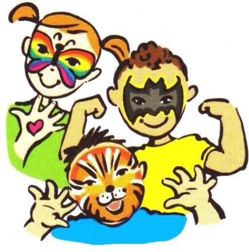 kids world funfair on twitter free face painting by art face rh twitter com face painting clip art designs