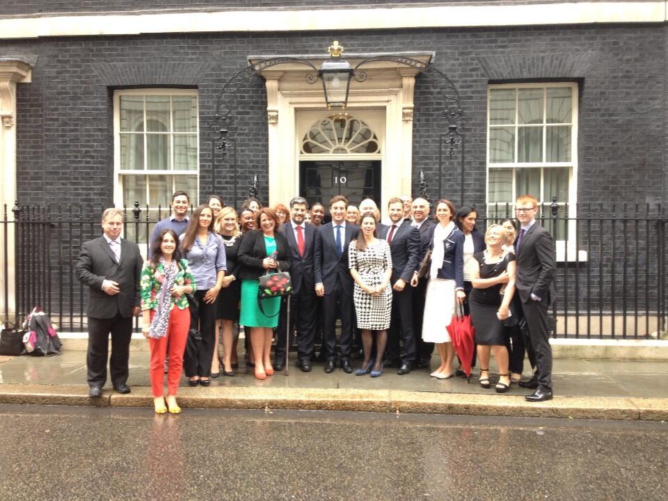 Enterprise Nation delegation at Downing Street