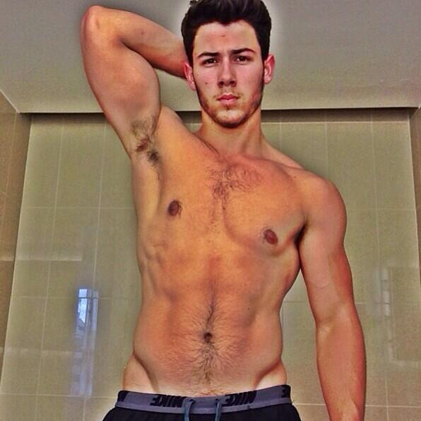 His hairy my abs