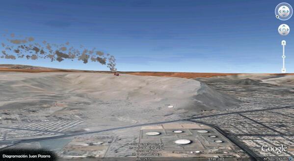 Vista de como se vería la termoeléctrica en cerro Chuño de Arica pic.twitter.com/ZmsIsS3o22