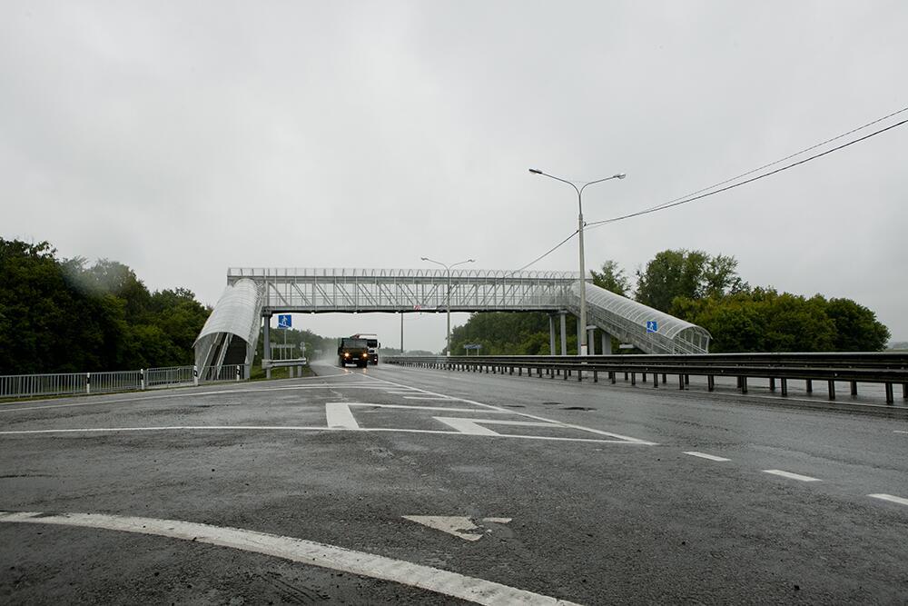 М4 ДОН 553 км пешеходный переход Воронежская область с. Каширское