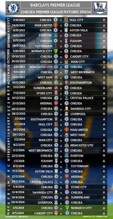 Oscar Indonesia Twitterissa Jadwal Chelsea Fc Untuk Di Liga Inggris Season 2013 14 Sewaktu Waktu Jadwal Bisa Saja Berubah Bplmatch Http T Co 335hrasaj8