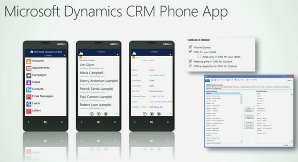 Dynamics CRM 2013 Phone App for Nok... I mean #WP8 looks pretty sweet. Offline & Feeds exclusive to WP #MSDYNCRM pic.twitter.com/pfJSYke8Ln