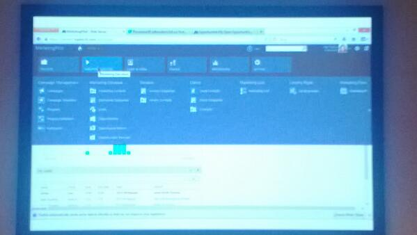 The UI of #MarketingPilot is seamless with the CRM 2013 UI! #CRM2013Blitz #MSDynCRM pic.twitter.com/6S1bEC8RmT