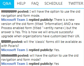 """To relieve upgrade anxiety, #CRM2013 will include #CRM2011 """"Information"""" forms alongside new #MSDYNCRM process forms pic.twitter.com/FPA32y4gQC"""