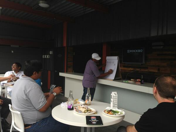 Overflow lunch session on API caching at @LLBean on the roof deck #apicraft pic.twitter.com/vSvBcIDmau